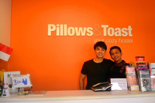 Pillows & Toast Hostel Reception