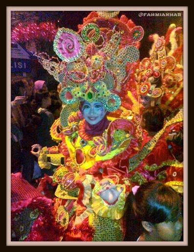 Salah Satu Peserta Solo Batik Carnival