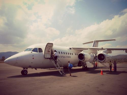Flight Labuan Bajo - Kupang by Trans Nusa