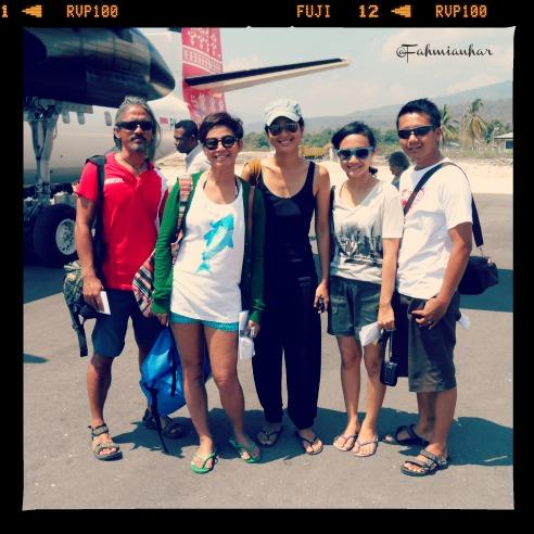 With Prisia Nasution in Alor