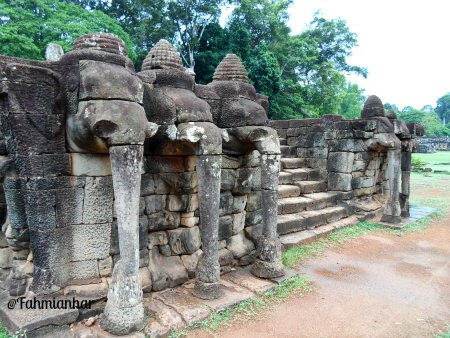 Elephants Terrace, Royal Palace Complex, Siem Reap, Cambodia