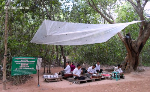 Traditional Khmer Music Group at Ta Phrom Siem Reap Cambodia