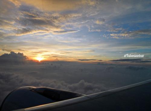 sunrise above the sky
