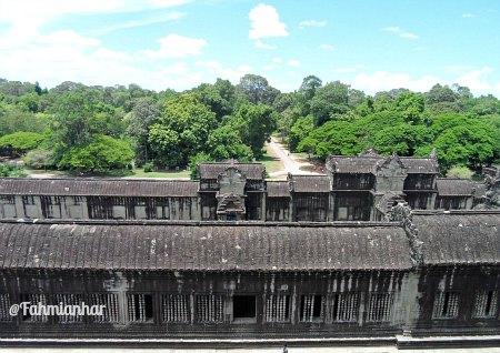 View From Lotus Tower Angkor Wat Cambodia