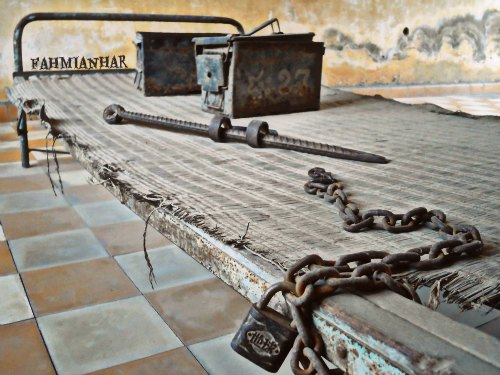 Tuol Sleng Genocide Museum Killing Bed